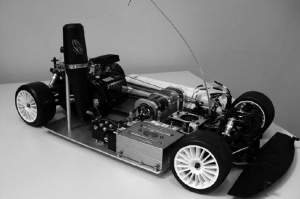 Small demostration vehicle using the new redox flow battery. Photo copyright Hochschule für Angewandte Wissenschaften Ostfalia.