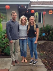 Lee and her kids James and Ellie.